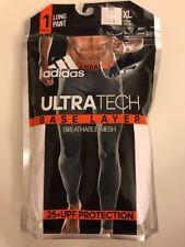 adidas Men's Baselayer Climacool UPF Long Pant White 25+UPF Breathable Mesh XL