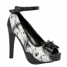 Iron fist femme crypt keeper plateforme chaussures talons chaussures bat wing rivets UK8