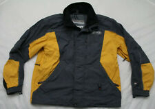 Spyder Mens Size Medium XT 6000 Yellow Gray Black Insulated Full Zip Ski Jacket