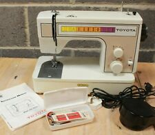 Vintage TOYOTA 221 Zigzag Sewing Machine + Accessories, Manual, Cover - 225