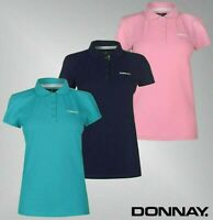 Ladies Donnay Short Sleeve Side Vents Pique Polo Shirt Top Sizes from 8 to 22