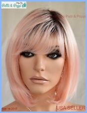 BOB  WIG HEAT SAFE ROOTED PEACHY KEEN  DARLING SEXY HOT US SELLER 2033