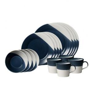 Royal Doulton Bowls of Plenty collection - 16 Piece set Dark Blue