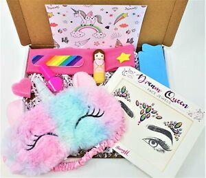 Childrens Girls kids UNICORN Pamper Gift box Set Beauty kit Birthday hamper