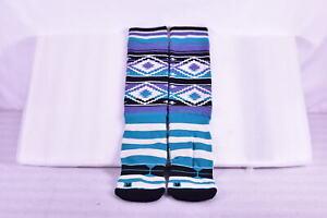 Stance Wool Blend Snowboarding Socks, Tribal Print, Purple & Teal, One SIze