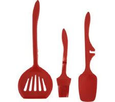 Rachael Ray Tools & Gadgets Silicone 3-Piece Lazy Set, Orange, FREE SHIPPING