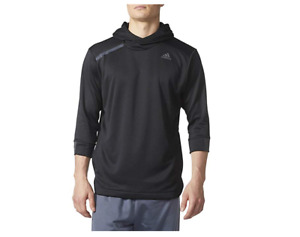 Adidas Men's Essentials 3/4 Sleeve Hooded Shirt, Color Options