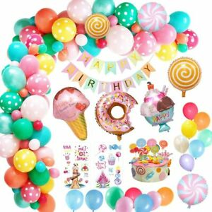 Candy land Birthday Party Decor Sweet Party Theme Latex Balloons Sets & Foils