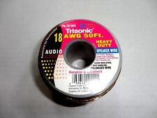 18 Gauge 50' Foot Heavy Duty Speaker Wire Cable Single Roll/Spool Easy Roll Out