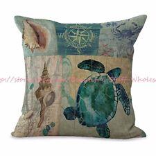 US SELLER-beach sea life turtle anchor cushion cover car seat cushion covers