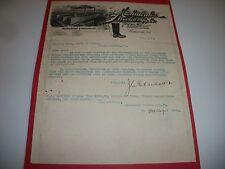 MISHAWAKA WOOLEN MFG. CO. 1898 STOCK VERIFICATION SIGNED BY JC EBERHART & BEIGER