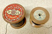 Thread Spools-Coats-2x-3 Cord & 6 Cord-Hand Sewing-Fabric-Textiles-Craft-Vintage