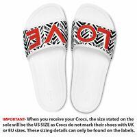 Crocs Sloane Sandals Love Drew Barrymore in White, Black & Orange 205260 100