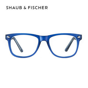 Shaub & Fischer Blue Reading Glasses +0.50 to +6.00