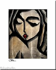STILL - Original Abstract Painting Modern Art Urban mod Face Print by Fidostudio