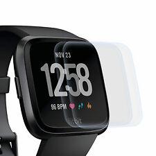 2x Display Schutz Folie für Fitbit Versa - Displayfolie Schutz Hülle Cover Clear