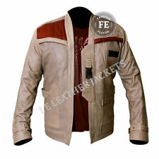 Star Wars John Boyega Finn Men's Leather Designer Jacket Special Gift for Him
