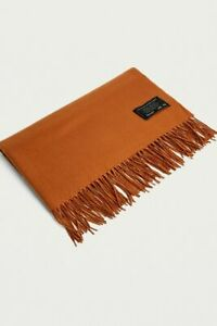 Urban Outfitters UO Oversized Rust Fringe Scarf Terracotta RRP £30 BNWT Winter