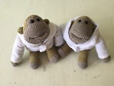 PG Tips Knitted Chimp Monkey Soft Toys In Dressing Gowns