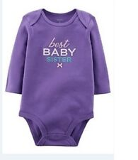 Brand New Carter's Cotton One piece -Violet Best Baby Sister Design