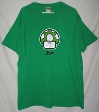 Nintendo 1 Up Super Mario Bros. T Shirt XL Green Mushroom Extra Life Video Game