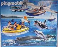 Playmobil 5920 Whale Watching Walbeobachtung Meeres-Expedition Flugzeug B-W. NEU