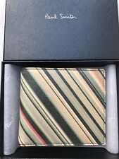 Paul Smith Men Wallet Bfold Mono Made In Italy Leather Multi