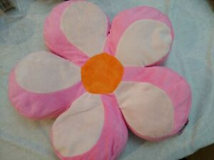 16 inch FLOWER PILLOW PINK ORANGE