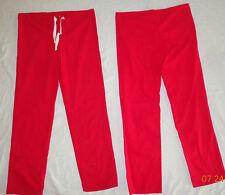2 Piece Unisex Drawstring Scrub Pant Back Pocket Color Red Size Xxs