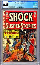 SHOCK SUSPENSTORIES #10 CGC 6.5 AL FELDSTEIN BILL GAINES WALLY WOOD ART EC 1953