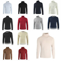 Mens Stretch Thermal Cotton Turtle Neck Skivvy Turtleneck Sweaters Shirt Tops