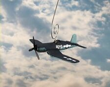 WWII Fighter Plane F4U Voight Corsair Christmas Ornament Aircraft Single Prop