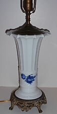 Rare Vintage 1959, Royal Copenhagen- Blue Aster Flowered Trumpet Vase Lamp Base
