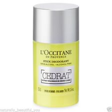 L'Occitane Cedrat Stick Deodorant 75g Alcohol Aluminium-free Natural Fresh Soft