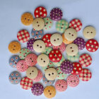 100Pcs 2 Holes Colorful Mixed Wooden Round Buttons Sewing DIY Craft Scrapbook