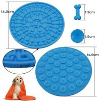 15cm Round Silicone Dog Puppy Lickimat Lick Mat Soother Treat Boredom Pets Dogs