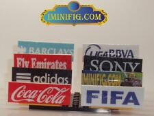 Custom LEGO Soccer Accessaries 8 Advertisement Boards with Stands #1ddA