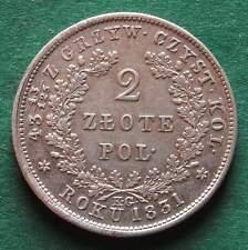 Polen russisch 2 Zlote 1831 polnischer Aufstand hübsch nswleipzig