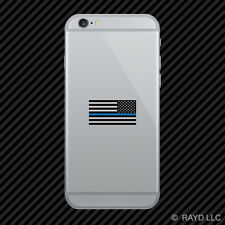 Reverse Thin Blue Line Subdued American Flag Cell Phone Sticker Mobile