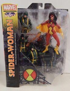 Diamond Select Marvel Spider-Woman MOC! Card has some shelf wear Hydra
