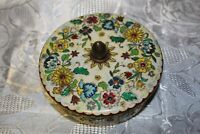 Decorative Vintage Candy Tin Made in Holland Beautifully Adorned