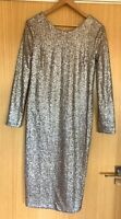 Jasper Conran Ladies Dress 10 Micro Sequin Evening Cocktail Ball Gown Party