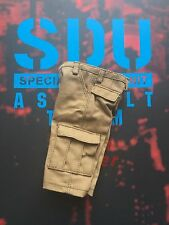 DAMTOYS SDU Assault Team Leader Tan Cargo Shorts loose 1/6th scale