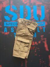 Equipo de asalto DAMTOYS unidad de datos estándar líder Pantalones cortos estilo cargo de bronceado Suelto Escala 1/6th