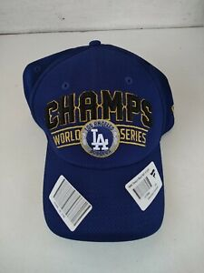 Los Angeles Dodgers 2020 World Series Champs New Era 39THIRTY Hat Cap Authentic