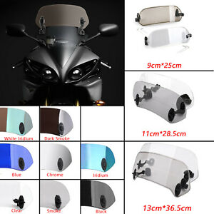 Universal Motorcycle Adjustable Clip On Windshield Extension Wind Deflector