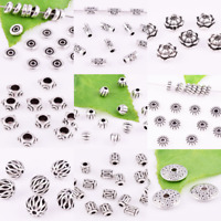 Lots Tibetan silver Spacer Loose Beads Jewelry Findings Multiple Style #06985