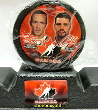 2002 McDonalds Team Canada Hockey Puck, Steve YZERMAN, Owen Nolan