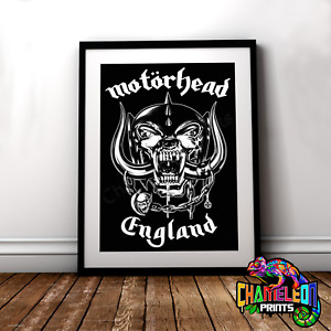 Motorhead Poster A3/A4 Motorhead England Poster