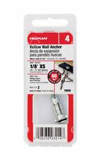 HILLMAN  1/8 in. Dia. x 1 in. L Metal  Hollow Wall Anchors  2 pk Hollow Head